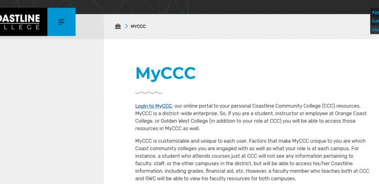 MyCCC Coastline College Logo