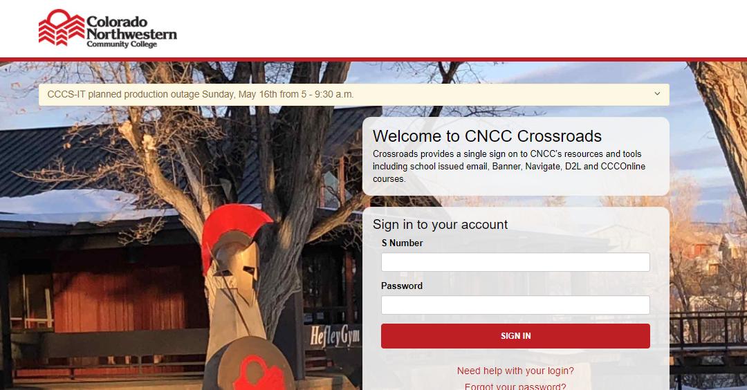cncc crossroads login